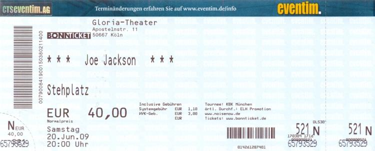 My Cologne ticket 2009